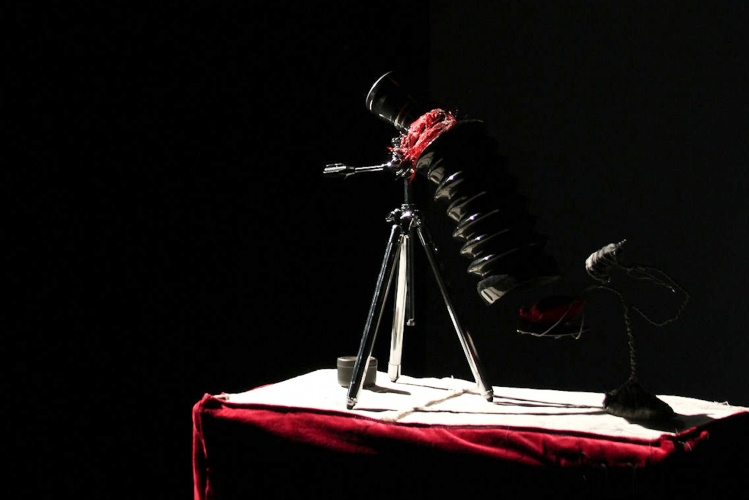 joe mazza, playwright, performer, and puppet creator